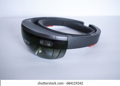 virtual reality smart glasses top on white