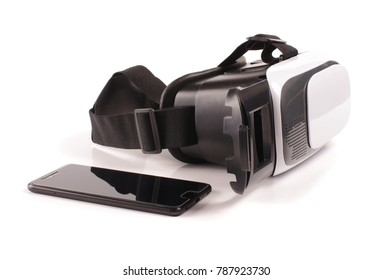 Virtual reality VR glasses isolated on the white background