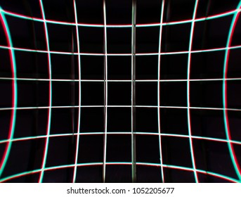 Virtual retro grid illustration background