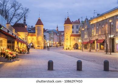 Viru Gate in Tallinn, Estonia