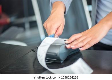 Visa card machine