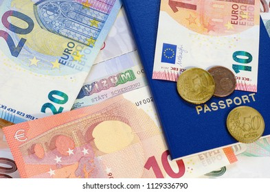 Visa Schengen Euro Banknotes And Coins 2