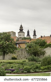 Visby Cathedral on Gotland, Sweden photographed from Almedalen.