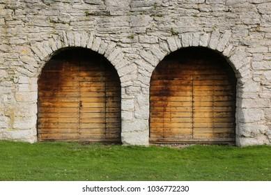Visby City Wall, Almedalen Gotland Sweden.