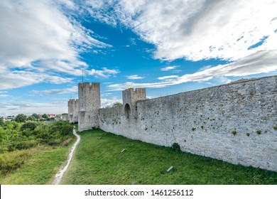 Visby City Wall (Swedish: Visby ringmur, sometimes Visby stadsmur) is a medieval defensive wall surrounding the Swedish town of Visby on the island of Gotland.
