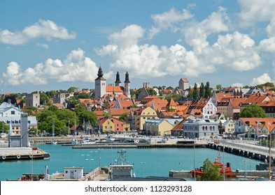Visby, Gotland/ Sweden-06-12-2016:  City view of Visby on the swedish island Gotland