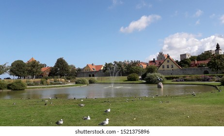 Visby, Gotland,Sweden. 08/20 2019. Almedalen a park near the harbor where a political festival is hold every year week 27. Started by Olof Palme. Speech and events are hold and different party's visit