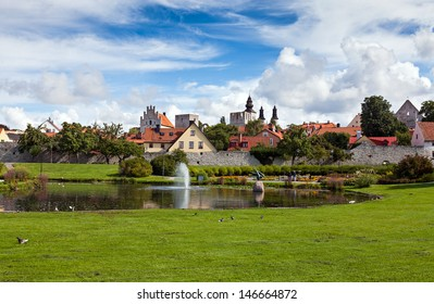 Visby, the main city on the picturesque island Gotland, Sweden. One of the best-preserved historical medieval city in Scandinavia. Visby has been named a UNESCO World Heritage Site.
