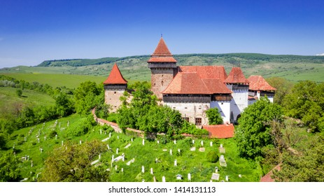 Viscri Fortified Church in Transylvania, Romania built as a stronghold fortification by the Saxons.