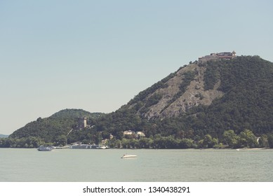 Visegrad Castle in the Danube Bend on a Sunny Summer Day
