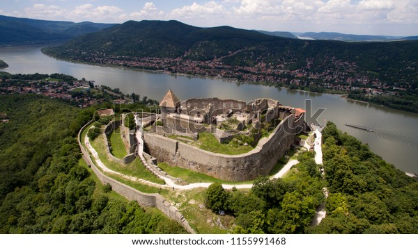 Visegrad, Hongrie aérienne de Dunakanyar