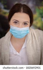 Viseu de Sus, Maramures - Romania - September 20 2020: Wear a protection mask during epidemic 2020