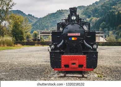 Viseu de Sus, Romania - October 2, 2018: Steam locomotive