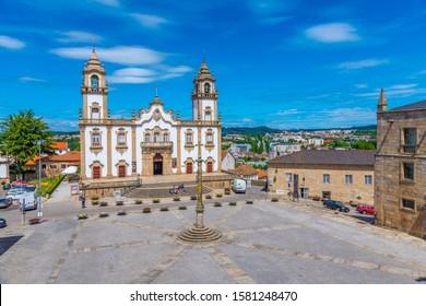 VISEU, PORTUGAL, MAY 20, 2019: The Church of Mercy or Igreja da Misericórdia in Viseu, Portugal