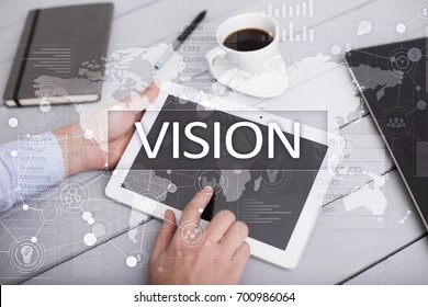 Vision concept. Business, Internet and technology concept.