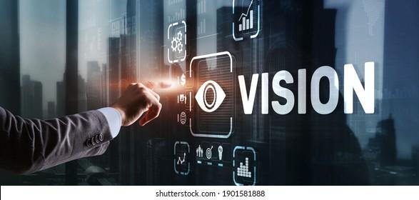 Vision Direction Future Business Inspiration Motivation Concept.