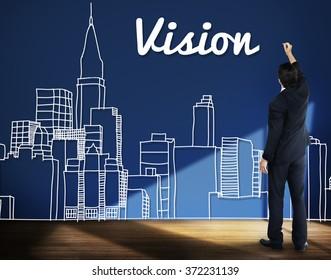 Vision Goals Building City Urban Concept