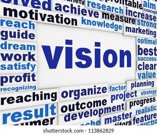 Vision poster conceptual background. Motivation for success message design