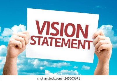 Vision Statement card with sky background