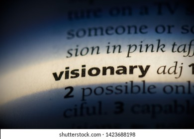 visionary word in a dictionary. visionary concept.