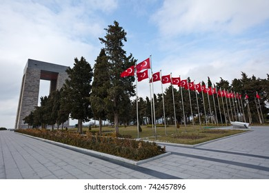 Visit of Canakkale Martyrs' Memorial Against to Dardanelles Strait-Canakkale,Turkey 09-02-2017