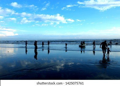 visit to Cox's Bazar .Cox's Bazar is a town on the southeast .It's known for its very long, sandy beachfront, stretching from Sea Beach in the north to Kolatoli Beach in the south.