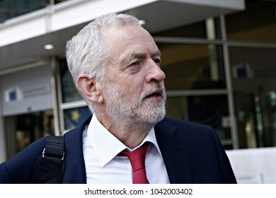 Visit of Jeremy Corbyn, Leader of the British Labour Party and Leader of the British Opposition, to the European Commission in Brussels, Belgium on Jul. 13, 2017.