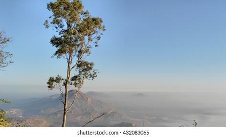visit to nandi hills (a place in nearby bangalore, karnataka, india). lovely sunrise