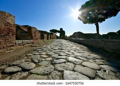 Ein Besuch in Ostia antica, einer alten römischen Stadt