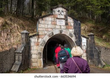 Visit to Salzwelten salt mines in Austria