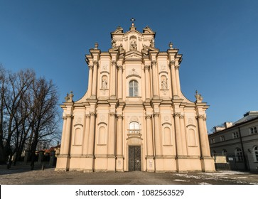 Visitationist Church in Warsaw old town in Poland capital city on a sunny winter day in Central Europe