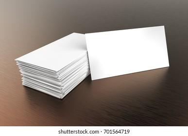 Visiting card blank mockup, template, on a dark background. 3d illustration.