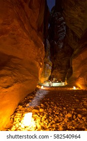 Visiting Petra by candle lights