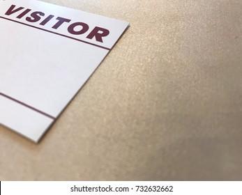 Visitor card for visitor Register at the seminar.