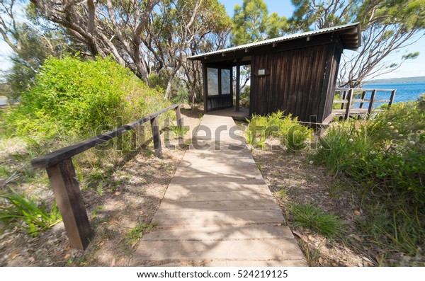 Visitor Information Small Wooden House On Stock Photo Edit Now