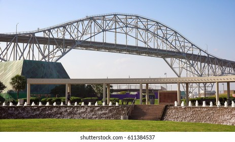 Visitors at the Bayfront Science Park have a view of the Corpus Christi Harbor Bridge
