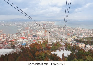 Visitors to the Hokkaido region Everyone must have a trip to the hakodate ropeway for a view of the beautiful hakodate.