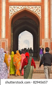 Visitors at Taj Mahal Entrance