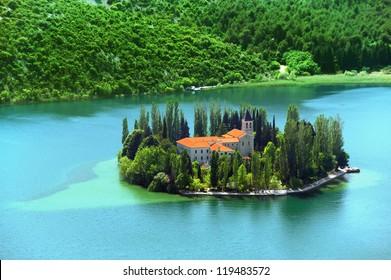 Visovac, Christian monastery, Croatia