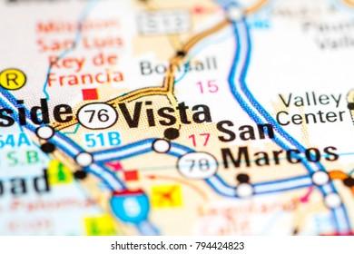 San Marcos California Usa On Map Stock Photo Edit Now 794424829