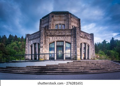 The Vista House, in the Columbia River Gorge, Oregon.