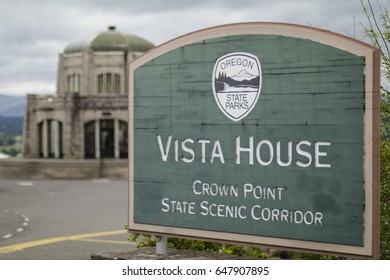 Vista House and Sign, Columbia Gorge, Oregon