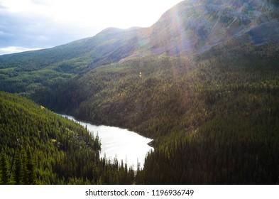 Vista Lake in autumn, Kootenay National Park, Canadian Rockies, British Columbia, Canada