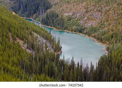 Vista Lake, Canadian Rockies, Banff National Park, Alberta, Canada