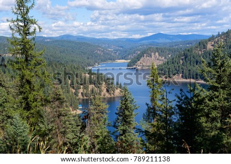 Vista of Lake Coeur d'Alene, Idaho