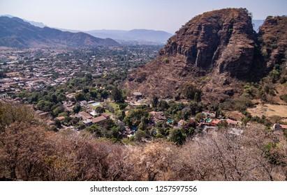 Vista of Malinalco in Mexico