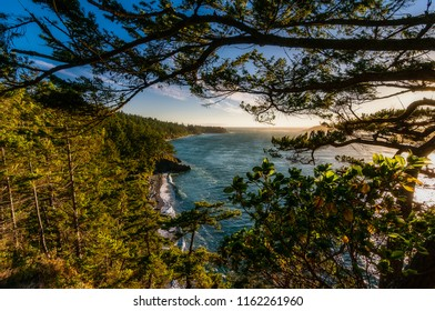 Vista view of North Beach at Deception Pass State Park in Washington State