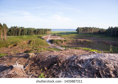 Vistula Spit, place for the canal construction