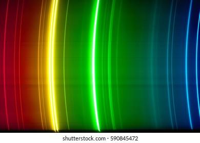 Visual spectrum of quicksilver lamp