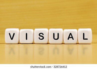 VISUAL word on blocks